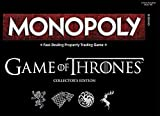 Image for board game QXue Game of Thrones Monopoly Board Game | Collectable Monopoly Game | Official Game of Thrones Merchandise | Based on The Popular TV Show on HBO Game of Thrones | Themed Monopoly Board Game