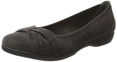 Soft Line 22161, Ballerines Femme, (Black), 38 EU