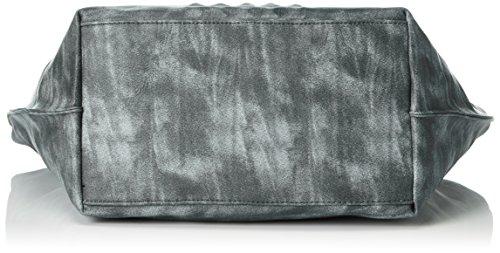 Remonte Damen Q0468 Schultertaschen, 43x32x17 cm Grau (45)