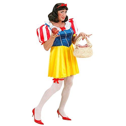 Schneewittchen Kostüm Herren Prinzessin Männer Kleid Prinzessinnen Herrenkostüm Fasching Witziges Prinzessinkleid Faschingskostüm JGA Party Junggesellenabschied Schneewittchenkostüm Karnevalskostüm Travestie Drag Queen Mottoparty Verkleidung Karneval Kostüme