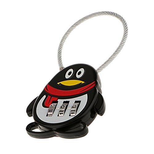 Herramientas Candado Seguridad Combinación Contraseña Pingüino 3 Di