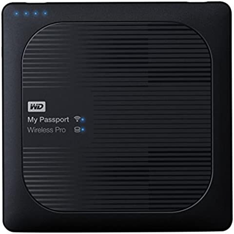 WD My Passport Wireless Pro - Disco duro externo portátil de 3 TB con Wi-Fi AC, SD y USB 3.0