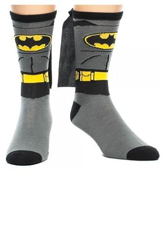 Batman Costume With Kappee Crew Sockens