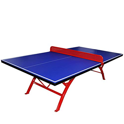 Table Tennis Table Portable Compact Table Small Space Falten Table Table with Net Sleeve Easy to emble for Outdoor Park School (Portable Tennis Net)