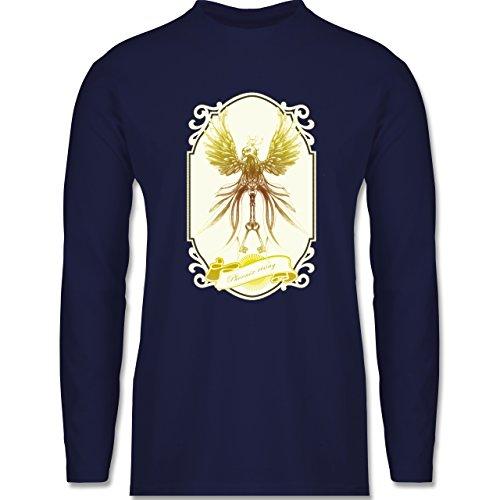 Shirtracer Vintage - Phoenix Rising - Herren Langarmshirt Navy Blau