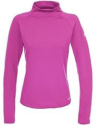 Trespass - Camiseta térmica de cuello alto y vuelto manga larga para Esquí Modelo Emelia TP75 Mujer Señora - Invierno/Trekking/Frio /Trabajar (Mediana (M)/Rosa)