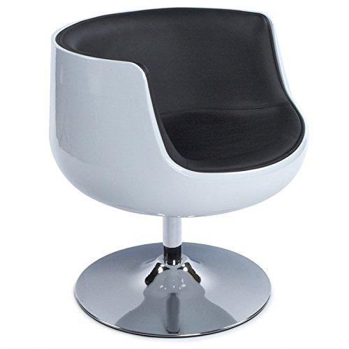 MK Fauteuil Design TARN en ABS (polymère à Haute résistance) (Noir Blanc)