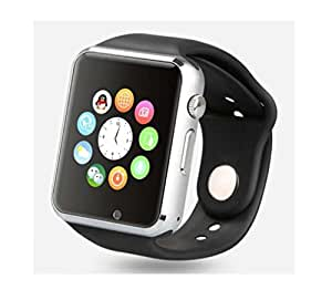 Mobilefit Samsung Galaxy Ace NXT Compatible Certified Smart Watch Silver colour Bluetooth GT08 Wrist Watch Phone with Camera & SIM Card Support New Arrival Best Selling Lowest Price with Apps Touch Screen, Multi Language with all mobile phones (42 mm)