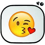"""'Protección Solar 45x 39cm """"Cara de la Página de un beso Envía coche Parasol Parabrisas reflejos de protección de sol infantiles–Smiley Emoji"""