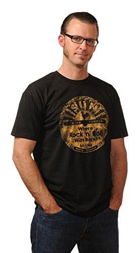 en Distressed Sun Tee T-Shirt, schwarz, S ()