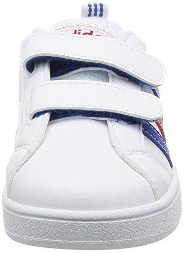 adidas Kinder-Unisex Vs Advantage Cmf Inf Turnschuhe, Bianco Mehrfarbig