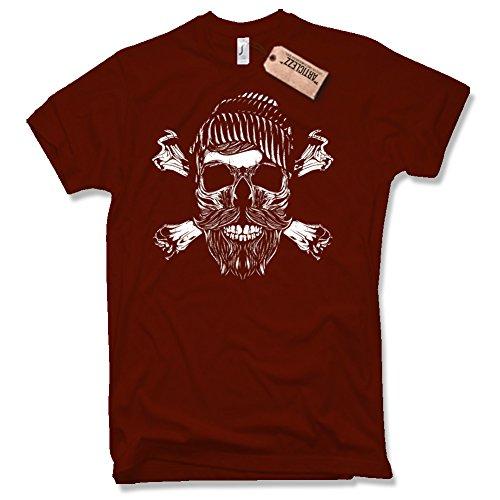 SAILOR SKULL Shirt , Anker, Captain, Oldschool, verschiedene Farben, Gr. S - XXL dunkelrot / burgundy