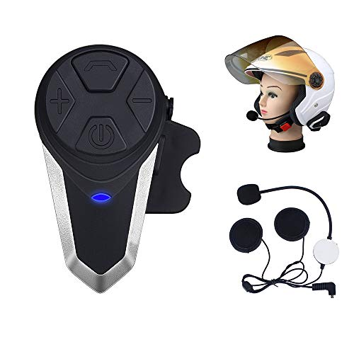 Fodsports Motorrad Headset Bluetooth Sprechanlage BT-S3 Motorrad Kommunikation System GPS FM Radio Wasserdicht Helm Intercom Headsets (1 Pack of Hard Headset) -