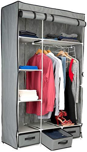 PEARL Kleiderschrank: 2-türiger Faltschrank mit 6 Fächern und 3 Schubfächern, 131-teilig (Schrank)