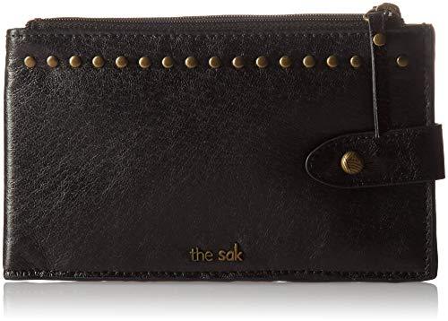 The SAK Damen Slim Credit Card Wallet Silverlake, schmale Geldbörse für Kreditkarten, Black Onyx, Einheitsgröße (Frauen Sak Geldbörse)