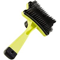 KOKIWOOWOO Slicker Brush for Dogs and Cats Self-Cleaning Grooming Comb for Dematting