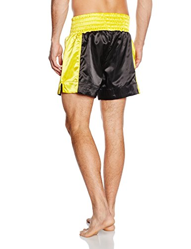 Everlast - Pantaloncini da thai boxe, da adulto Oro - Nero/Oro