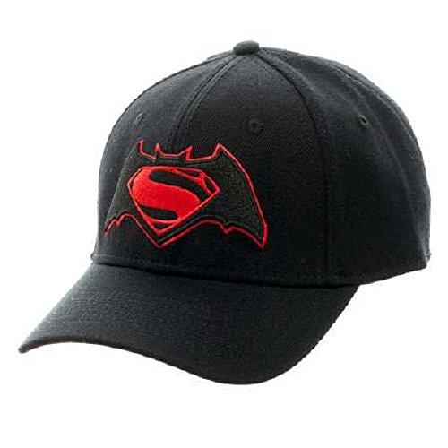 Batman vs. Superman Movie Logo Flex Fit Baseball-Cap Logo Flex Hat