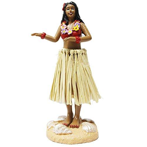 Hula-Girl-Mini-tamao-tablero-mueca-45-alta-con-rafia-falda