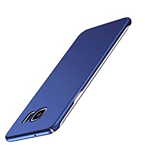 Kapa Silk Smooth Finish [Full Coverage] All Sides Protection Slim Back Case Cover for Samsung Galaxy S7 Edge - Slate Blue