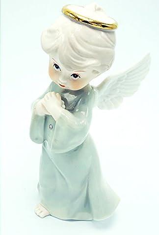 Dekorative Chinesische Porzellan Engel Figur (weiß) Weiß (Porzellan Engel Figurine)
