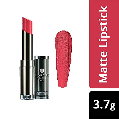 Lakme Absolute Matte Lipstick, Rose Bloom, 3.7g