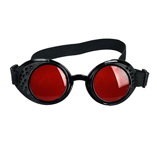 Steampunk Antique Copper Cyber Goggles Brillen Wedding Punk Goth Vintage Cosplay Brille (Horse Racing Brille)
