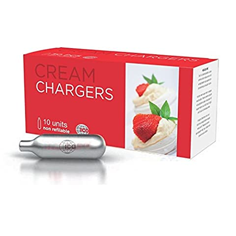 Impeccable Culinary Objects Cream Chargers, Silver, 10-Piece - Liss Sifone