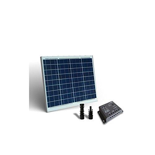 Kit Solare Base 50W Pannello Fotovoltaico + Regolatore 5A - PWM