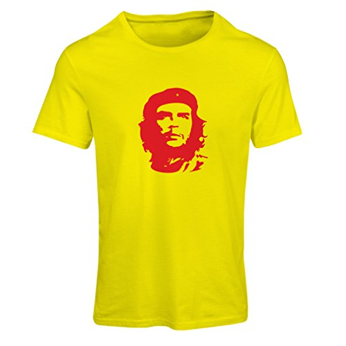 Frauen T-Shirt Wie Che Guevara - Lang lebe die Revolution! - Kubanischer Revolutionär, Politisches Design (X-Large Gelb Rote)