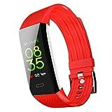 Intelligentes Armband, Dynamischer, Kontinuierlicher Herzfrequenz-Farbbildschirm Bluetooth Schritt Gegenbewegung Schwarze Technologie, Schwarz-Rot-Blau,Blue