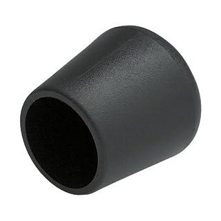 4 Stück Home Xpert Stuhlbeinkappe, Stuhlbeinschutz, Stuhlkappen, rund, Kunststoff in schwarz Ø 18 mm