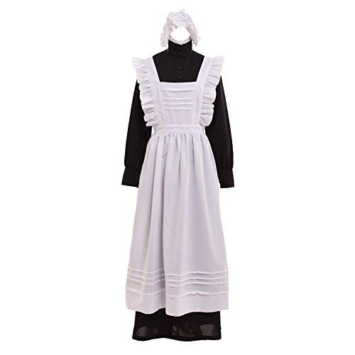 GRACEART Damen Plymouth Pilger Kostüm (Large, Reine Baumwolle)