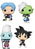 Dragon Ball Super Pop Vinyl Figure Bundle: Goku Black, Trunks, WHIS, Zamasu