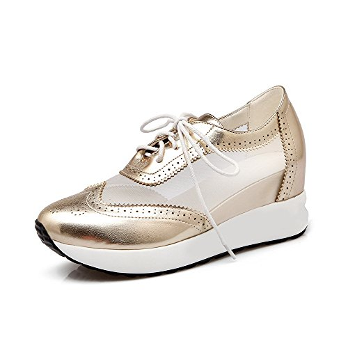 voguezone009-womens-round-closed-toe-lace-up-blend-materials-solid-high-heels-pumps-shoes-gold-31
