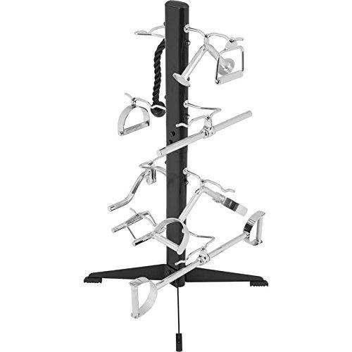 GORILLA SPORTS® Griffständer Schwarz bis 100 kg belastbar – Ablage für Griffe und Zughilfen