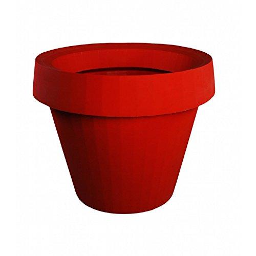 Pot externe Giò Tondo de Slide Design polyéthylène - Flame Red