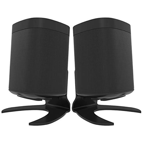 ONE, ONE SL & Play:1 Desk Stand, Twin Pack, Nero, compatibile con Sonos ONE & PLAY1 Speaker