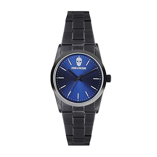 Orologio unisex Zadig & Voltaire al quarzo quadrante blu 36mm e bracciale argento in acciaio zvf616
