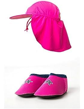 De bebé de la orilla pies de la foulard de zapatos y un Yoccoes de los rayos UV gorro Diseño con escudo de accesorios...