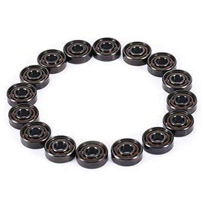 XZANTE Xinrub Miniaturlager,16Pcs/Set Inline Rollschuh High Speed 608 Lager Einseitig Schild Keramikkugeln