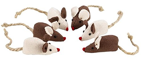 Petface Catkins Mini Mice Cat Toy (Pack of 6)