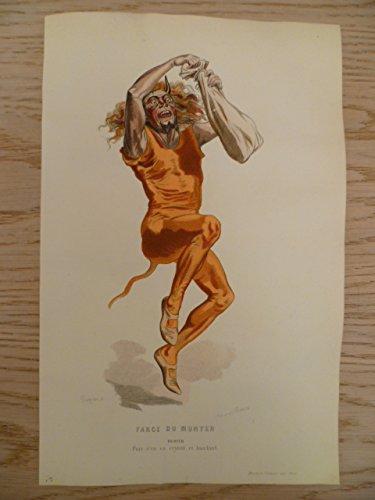 Kostüm De Marie Paris - Farce du Munyer. Kolorierter Stahlstich von