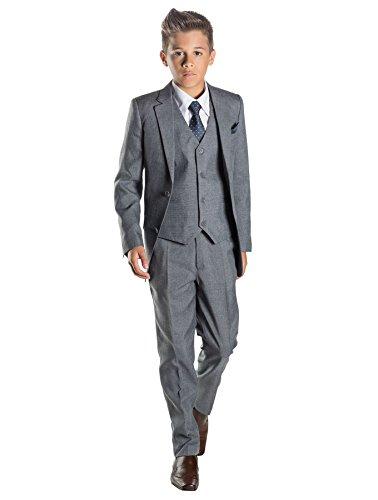 Paisley of London, Anzug für Jungen, Hochzeit, Pagenjunge, Grau, 12–18Monate bis13Jahre Gr. 8 Jahre, grau