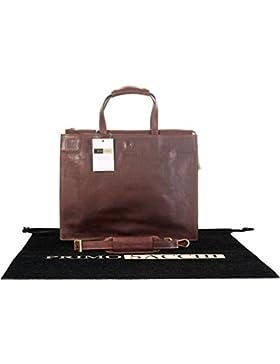 Luxuriöse italienische Leder Classic Ladies dezenten Vintage-Stil Folio Aktentasche Umhängetasche.Enthält Marken...