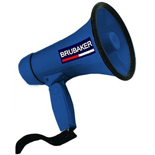 Brubaker Megafon - Funktionen: Sprechen und Sirene - Blau - Megaphone