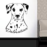 WWYJN Animal Wall Stickers Cute Dog Vinyl Wall Decals Home Pet Wall Art Poster Detachable Puppy Wallpaper White 57x75cm...