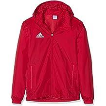 adidas COREF RAI - Chaqueta deportiva para hombre, color rojo/ blanco, talla S