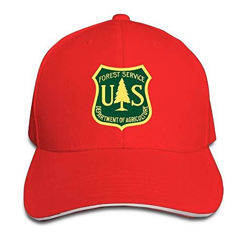Bikofhd US Forest Service Flag einstellbar Baseballmützen Vintage Sandwich Hut Unisex43 Vintage-sandwich-cap
