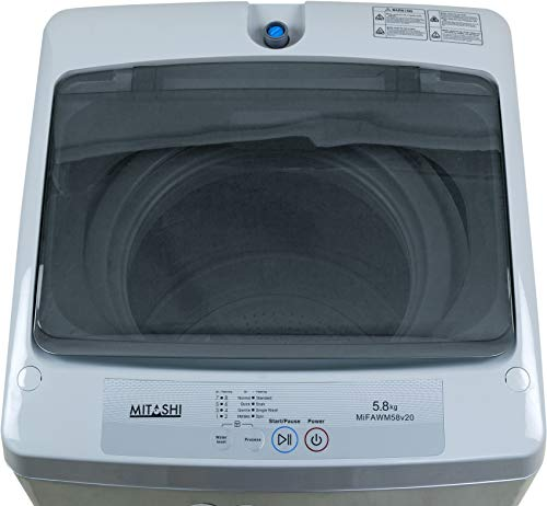 Mitashi 5.8 kg Fully Automatic Top Loading Washing Machine (MiFAWM58v20, Grey)